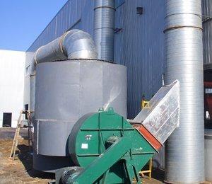 荣盛钢结构公司,构件喷漆有机废气净化工程,干式漆雾净化器